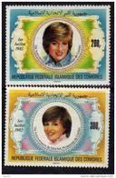 Comores N° 368 / 69 XX  21ème Anniversaire De La Princesse De Galles La Paire Gomme Blanche Brillante Sans Charnière TB - Comores (1975-...)