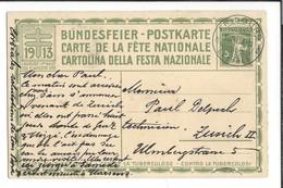 N 43 - Carte N°6 Fête Nationale 1913 Fribourg 18.08.1913 Bundesfeier Postkarte Das Rütli - Postwaardestukken