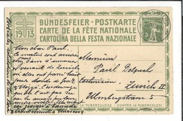 N 43 - Carte N°6 Fête Nationale 1913 Fribourg 18.08.1913 Bundesfeier Postkarte Das Rütli - Entiers Postaux