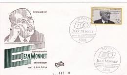 Germany FDC 1977 Jean Monnet (T16-14) - FDC: Buste