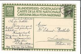 N 46 - Carte N°2 Fête Nationale 1911 Zürich 01.08.1911 Bundesfeier Postkarte - Interi Postali