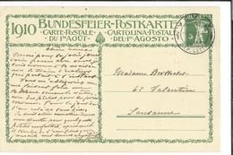 N 48 - Carte N°1 Fête Nationale 1910 Vevey 01.08.1910 Bundesfeier Postkarte 1er Jour - Entiers Postaux