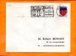 LOIRE, Charlieu, Flamme SCOTEM N° 349a, Ses Cloitres Son Abbaye - Marcophilie (Lettres)