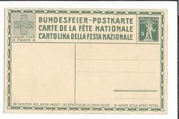 N 53 - Carte N°3 Fête Nationale 1912 Bundesfeier Postkarte Carte Neuve - Entiers Postaux
