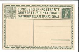 N 54 - Carte N°3 Fête Nationale 1912 Bundesfeier Postkarte Carte Neuve - Interi Postali