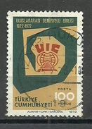Turkey; 1972 50th Anniv. Of The International Union Of Railways - 1921-... República