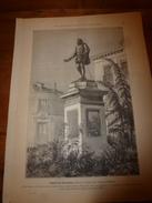 1901: Statue De CERVANTES à Madrid; Gustave Doré; Habits D'autrefois; Hôtel Des Menus-plaisirs à Versailles - Vieux Papiers