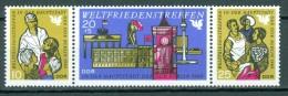 DDR - Mi-Nr. 1478 - 1480 Dreierstreifen Weltfriedenstreffen Berlin Postfrisch - Zusammendrucke