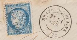 N° 60.   COTE D'OR.    GC 6040.  BRAZEY-EN-PLAINE.   SUR FRAGMENT DE LETTRE   /   4 - 1849-1876: Klassieke Periode
