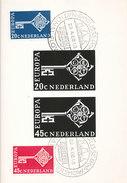 D29368 CARTE MAXIMUM CARD FD 1968 NETHERLANDS - EUROPA CEPT - SPEC. POSTMARK CP PHOTOCARD - 1968