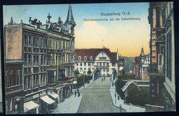 Cpa  De Pologne  Hindenburg  O.-S.  Dorotheenstrasse Mit Der Ueberführung  NCL74 - Pologne