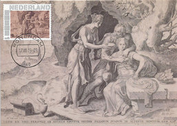 D29382 CARTE MAXIMUM CARD 2015 NETHERLANDS - LOT AND HIS DAUGHTERS BY FRANS FLORIS - NUDE - CP ORIGINAL - Nudes
