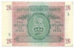 2 SHILLINGS 6 PENCE OCCUPAZIONE INGLESE IN ITALIA BRITISH AUTHORITY 1943 BB+ - [ 1] …-1946 : Regno