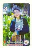 TELECARTE  LAOS *1050 Units  Lao Soung Nation Dress