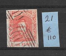 HAWAII YEAR 1862 LITHOGRAPHIE KAMEHAMEHA IV YVERT NR. 21 COTE EUROS 110.- VOIR SCAN EX COLLECTION COMTE L. DE BELMONT - Hawaï