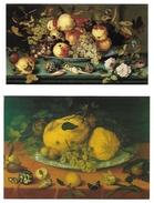 0806g: 2 AKs Balthasar Van Der Ast (1593- 1657), Ungelaufen - Paintings