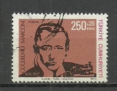 Turkey; 1974 Centenary Of The Birth Of Guglielmo Marconi - 1921-... República