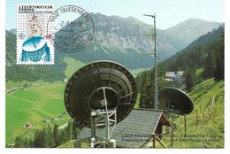 0806b: Liechtenstein, Triesenberg, Sat- Schüssel LGGA- Kopfstation - Astronomie