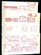 NETHERLANDS * 5 DIFFERENT EMA PRINTS FROM THE 70's * ROODFRANKERING RED METER STAMP * ON COVER PIECES - Poststempel - Freistempel