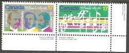 Sc. # 857 & 58 O Canada Centenary Se Tenent Pair Used 1980 K120