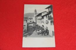 Spera Trento Bassa Valsugana  Veduta Della Piazza Primi 1900 Molto Bella Animatissima E Rara++++++ - Andere Steden
