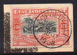 Congo Belge N° 27 Oblitéré Sur Petit Fragment - Cote 120€ - Congo Belge