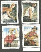 Sc. # 1432-35 Canadian Folklore #3 Set Used 1992 K126