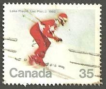 Sc. # 848 Winter Olympics, Downhill Skier HV Single Used 1980 K129