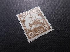 D.R.21   3Pf*/MLH   Deutsche Kolonien (Karolinen) 1919  Mi € 1,00 - Colony: Caroline Islands