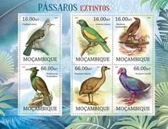 MOZAMBIQUE 2012 SHEET EXTINCT BIRDS OISEAUX UCCELLI PASSAROS AVES Moz12223a - Mozambico