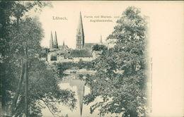 AK Lübeck, Partie Mit Marien- Und Aegidienkirche, Um 1900 (9979) - Luebeck