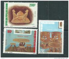 Bénin  N° 567 / 69  XX  Artisanat Les 3 Valeurs Sans Charnière, TB - Benin - Dahomey (1960-...)