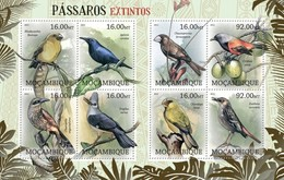 MOZAMBIQUE 2012 SHEET EXTINCT BIRDS OISEAUX UCCELLI PASSAROS AVES Moz12230a - Mozambico