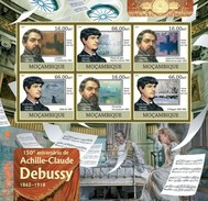 MOZAMBIQUE 2012 SHEET DEBUSSY COMPOSERS COMPOSITEURS COMPOSITORES KOMPONISTEN Moz12304a - Mozambique