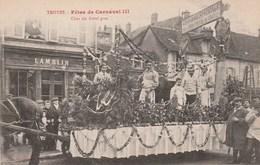 TROYES - FETES DE CARNAVAL III - CHAR DU BOEUF GRAS PRESENTE PAR LA CHAMBRE SYNDICALE  DE LA BOUCHERIE DE TROYES - SUPER - Troyes