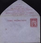 Entier Enveloppe Pneumatique Papier Lilas Tubes Pneumatiques Chaplain Rouge 60 Ct Papier Lilas Storch G1 P306