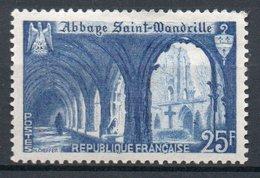 FRANCE 1949 - Abbaye De Saint-Wandrille - N° 842** - France