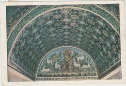 CPM:  RAVENNA  (Rép. De San MARINO):  Mausolée De Galla Placidia  -  Lunette Du Bon Pasteur (mosaïque).     (D 318) - Tableaux, Vitraux Et Statues