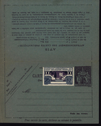 Entier Carte Lettre Pneumatique Papier Bleu Storch P307 I1 Date 520 Chaplain 75ct Violet YT 213 Complément Art Déco