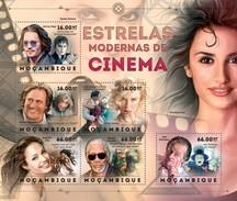 MOZAMBIQUE 2012 SHEET CINEMA STARS ACTORS ACTRESSES ESTRELLAS DE CINE ACTORES ACTRICES Moz12404a - Mozambique