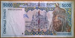Bénin - 5000 Francs - 2003 - PICK 213 Bm - SUP - Bénin