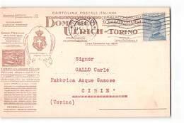 AG-B119 01 DOMENICO ULRICH TORINO ESTRATTI ERBORISTERIA X LIQUORI X CIRIE - 1900-44 Victor Emmanuel III