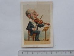 PIERRE-EN-BRESSE (71): CHROMO Violoniste Musicien Violon - Epicerie Graines Confiserie Liqueur - NOIR-ARVEUX - APPEL - Autres