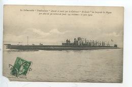 """Submersible """"Vendémiaire"""" Coulé Par Cuirassé """"saint Louis"""" Au Large De La Hague (Manche France) 8 Juin 1912 - Warships"""
