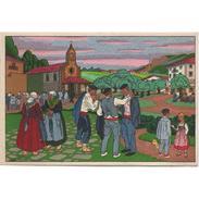 COSTP0621CPA-LFTM1780TARIC.Tarjeta Postal DE GUIPUZCOA.Edificios.Iglesia.EN UN PUEBLO VASCO - Iglesias Y Catedrales