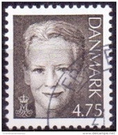 DENEMARKEN 2002 4.75kr Margrethe II Zwartbruin GB-USED