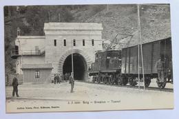 Simplon Tunnel, Railway Train, Brig, Schweiz Svizzera Suisse Switzerland - VS Valais