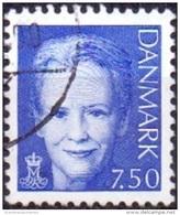 DENEMARKEN 2005 7.50kr Margrethe II Blauw GB-USED