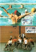"""Berlin West 2 Maximumkarte """"Sporthilfe: Beliebte Sportarten"""" Mi-Nr. 864/65 ESSt. 15.2.1990 Berlin 12 - Maximumkarten (MC)"""