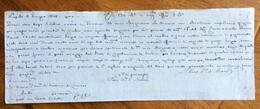 """CAMBIALE NAPOLI 1814 """" Arrivo A Genova Col Mio Brigantino Bandiera Napoletana Pagato Con Questa Mia Seconda Di Cambio.."""" - Cambiali"""